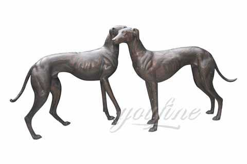 How Much Life Size Bronze Greyhound Dog Statue BOK-147