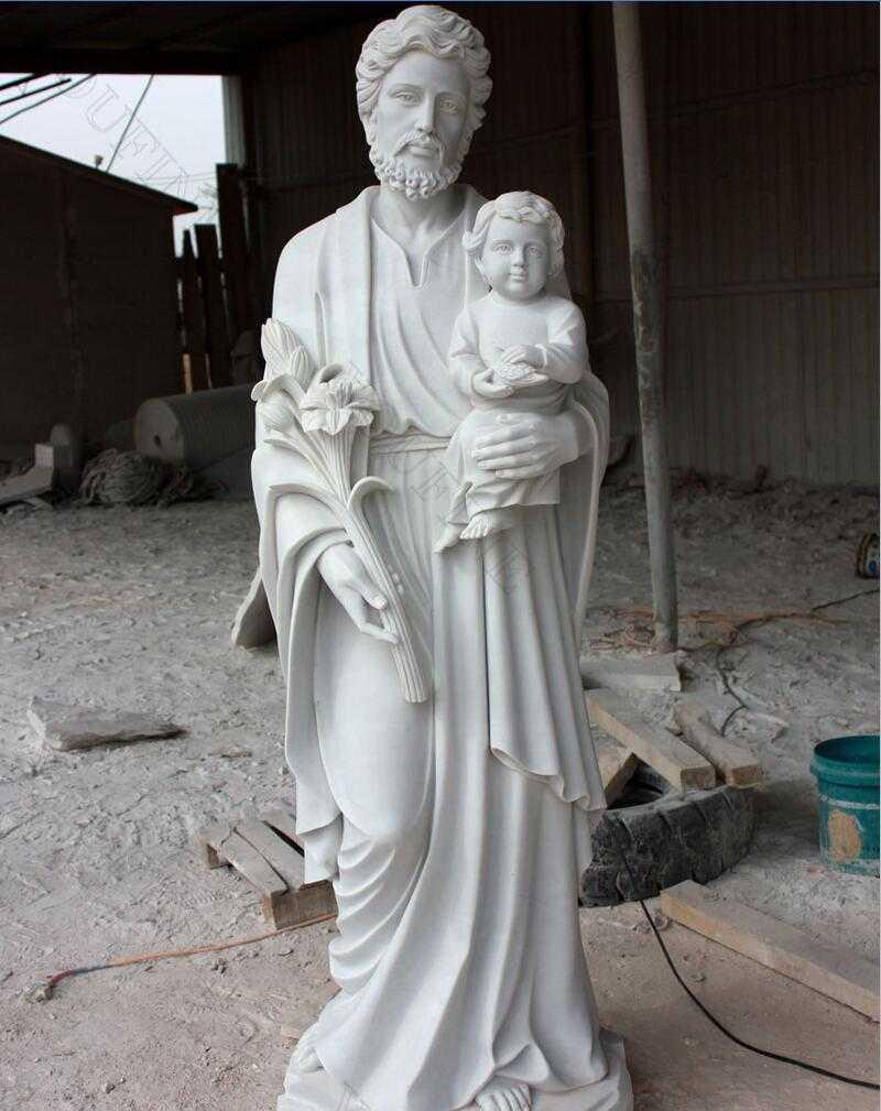 life size SaintJosephHoldingBaby Jesus Statue Sculpture