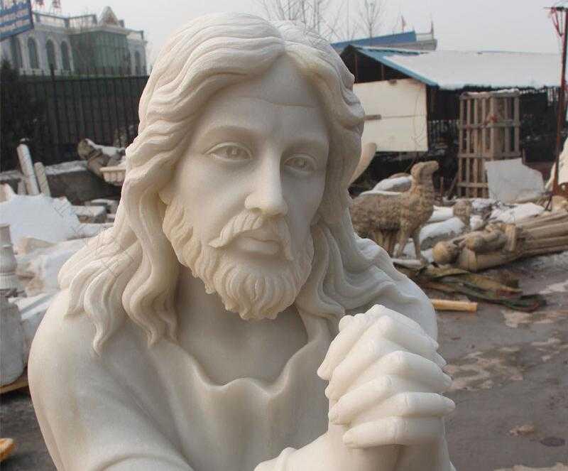 marble kneeling jesus statue for sale