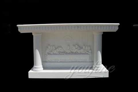 Decorations stand marble pulpit for church