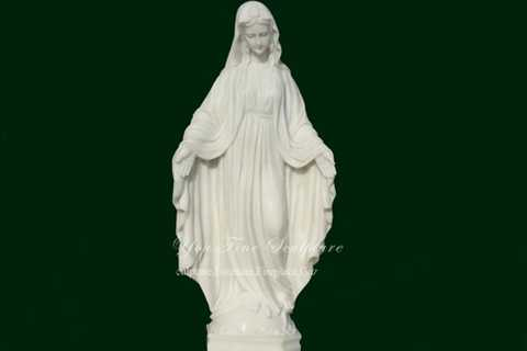 Large Outdoor Open Arm Virgin Mary Marble Statue