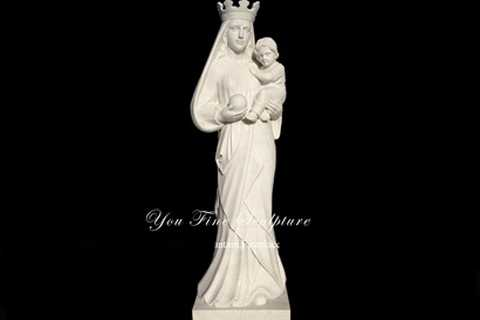 Life size Large Stone Mary and Jesus Statue for Church