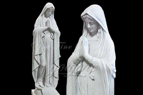 Blessed Garden White Marble Virgin Mary Statue Outdoor