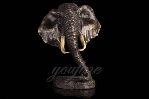 Good Quality Metal Bronze Elephant Bust Sculpture from Chinese Supplier