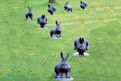 Life Size Bronze Rabbit Garden Statue for Sale