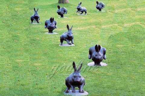Life Size Bronze Rabbit Garden Statue for Sale