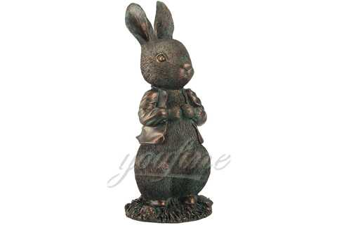 Large Bronze Rabbit Garden Sculpture for Decoration BOK-195