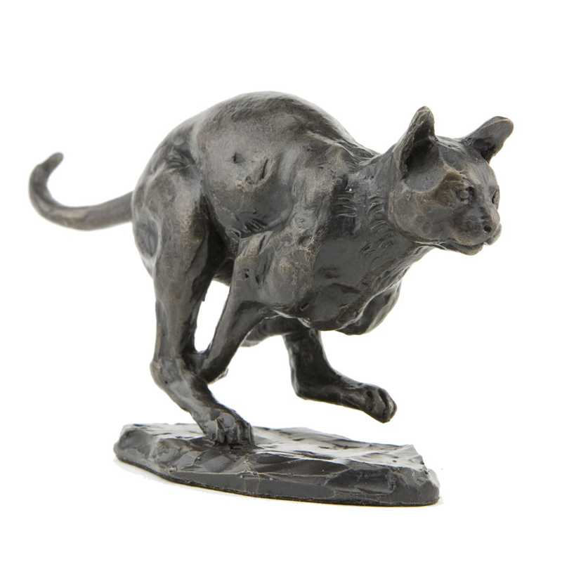 running bronze cat statue for sale