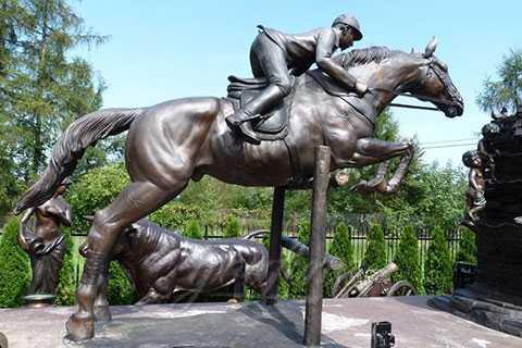 Life Size garden Bronze Riding Horse Statue BHS-04