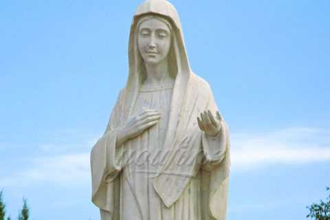 Marble Blessed St Virgin Mary Statues for Church or Garden