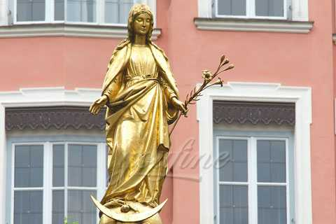 Bronze Standing Garden Religious Our Lady Blesseda Virgin Mary Statue for Sale CHS-134