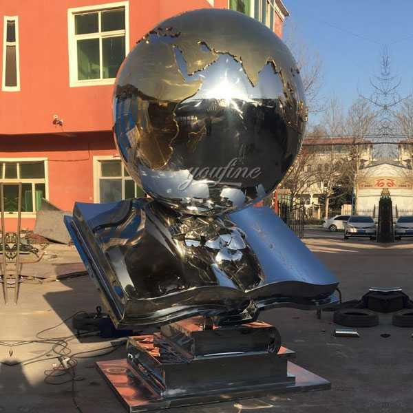 Contemporary custom made high polished metal modern outdoor stainless steel sculpture for sale