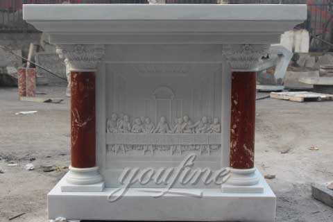 Garden Natural Marble Religious Christian Altar Table for Sale