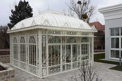 Germany Large White Wrought Iron Gazebo for Garden