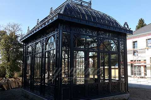 How to Install Germany Large Metal Wrought Iron Gazebo–IOK-005