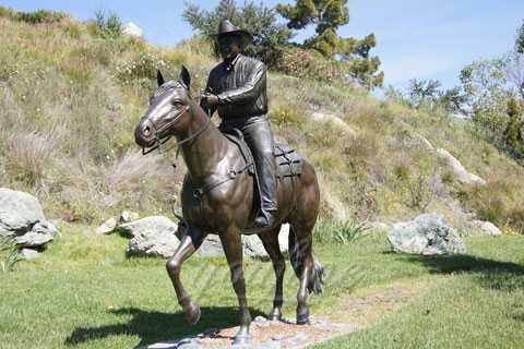 Life Size Outdoor Bronze Ridding Horse Statue