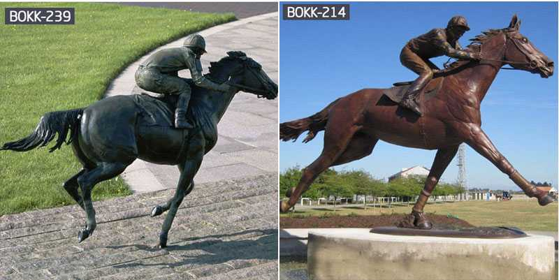 bronze horse racing statue for sale