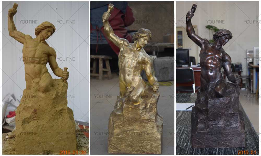 bronze self made man statue for sale