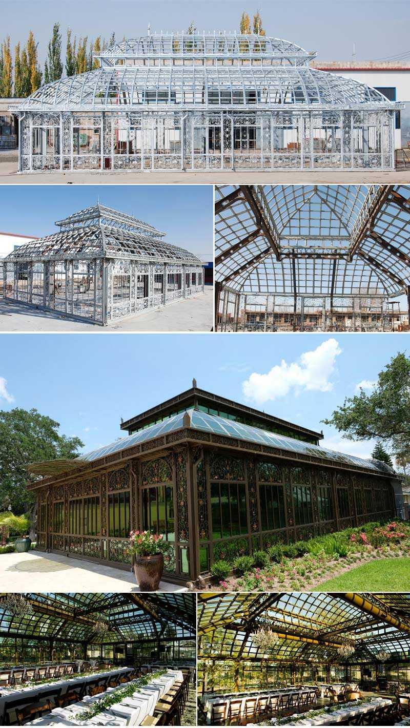 giant outdoor backyard wrought iron gazebo for wedding for sale