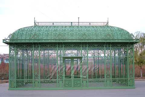 Large Garden Wrought Iron Pavilion Metal Gazebo for Sale–IOK-007