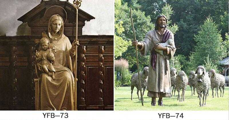 outdoor jesus and mary statue for sale