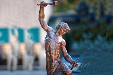 bronze self made statue