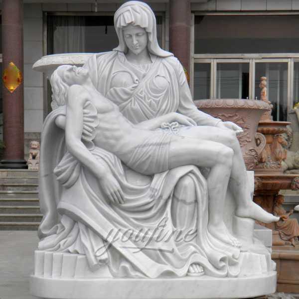 Life size religious sculpture pieta