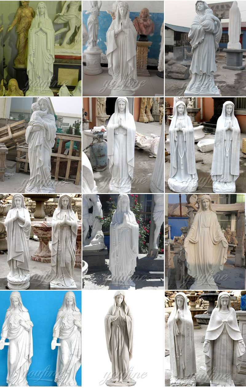 the Factory supply great marble statues of mother mary on discount design