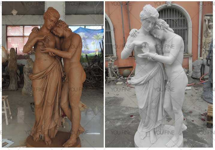 Factory supplier life size marble antonio canova cupid and psyche standing