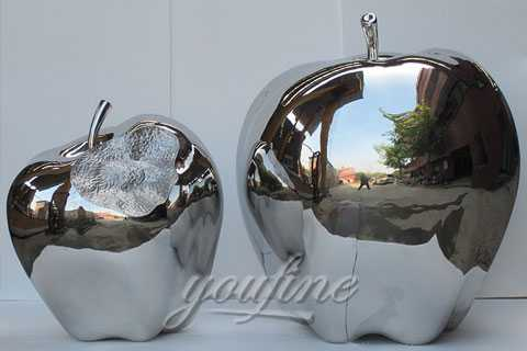 2017 Mirror polished Modern Metal Sculpture in Stainless Steel for decor