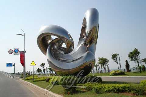 2017 Modern Stainless Steel Sculpture with High Polished for decor
