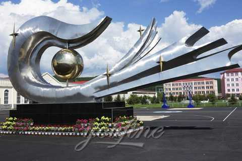 2019 New Modern hand Stainless Steel Sculpture for Sale