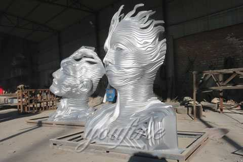 Outdoor bust metal sculptures for sale