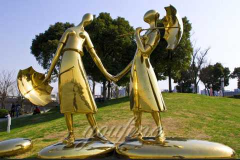 2017 Outdoor Large Sculpture in Stainless Steel for Sale