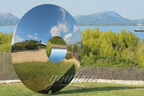 2019 Outdoor modern abstract polished 316 mirror stainless steel sculpture designs for garden–SSS-85