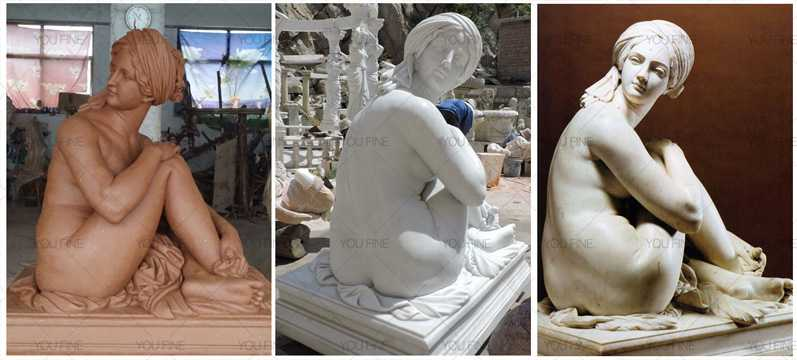 Famous marble sculptures of Odalisque statue