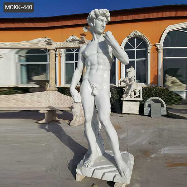 marble David statue