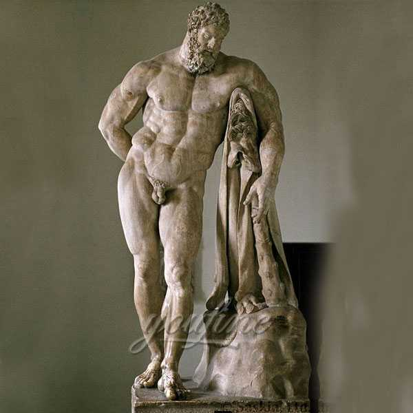 Outdoor life size marble Hercules statues