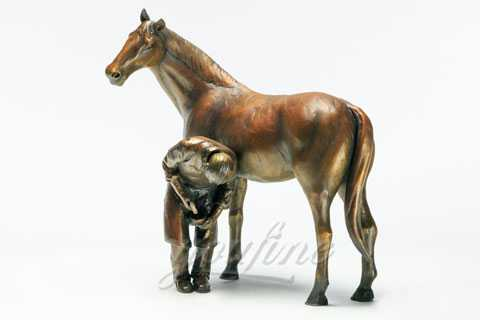 Decorative Garden Antique Bronze Horse Sculptures