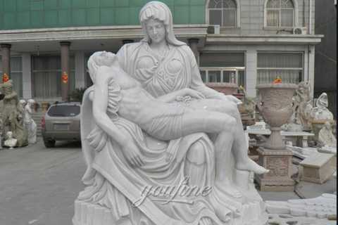 The World Famous Statue of White Marble Pieta Statue