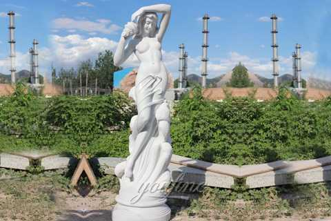 Outdoor life size stone ferdinando vichi sea nymph for garden decor MOK-483