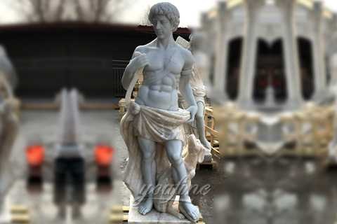 Outdoor life size marble sculptures of Artemis god of hunt for sale