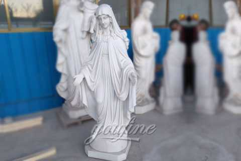 the Factory supply great marble statues of mother mary on discount sale