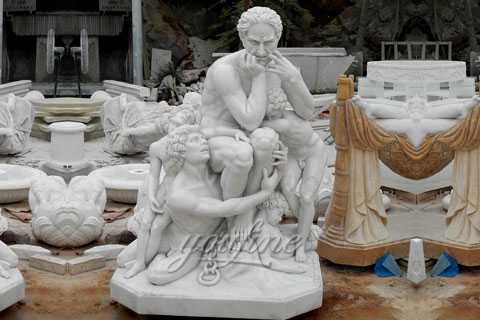 Famous art sculptures reproduction Ugolino and His Sons statue for the Belgian clients MOK-565