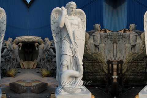 Famous artists sculptures of Saint michael archangel statue for sale CHS-362