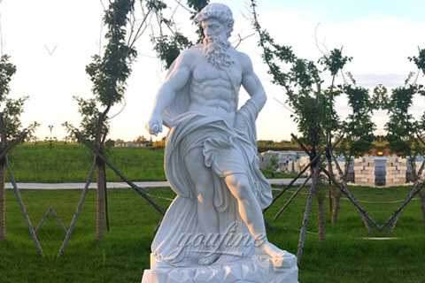 Famous marble sculptures of Neptune Poseidon statue for sale MOK-542