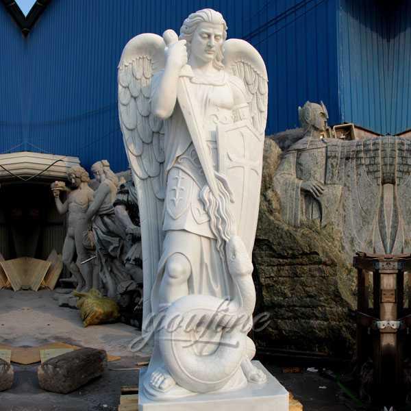 Saint michael archangel statue