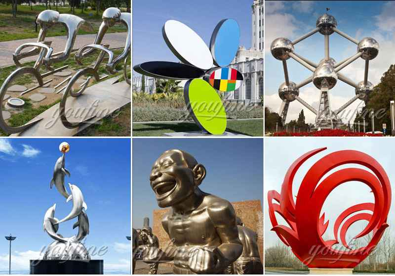 Abstract Stainless Steel Ball Sculpture for Outdoor for Sale