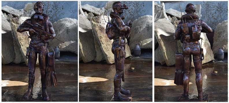 Bronze statue for decor