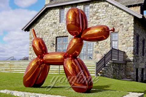 China Abstract Mirror Polished Stainless Steel Balloon Dog Sculptures for Sale